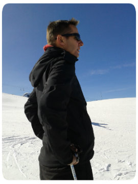 Séverin Groisne sur les pistes de ski