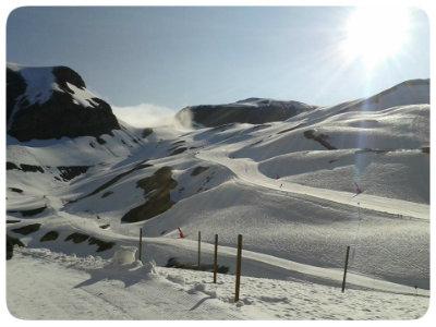 Vue du glacier de Val d'Isère