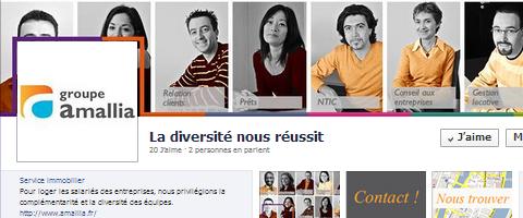 page facebook d'amallia avec les photos d'employés