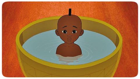 Image du dessin animé en audiodescription : Kirikou et la Sorcière