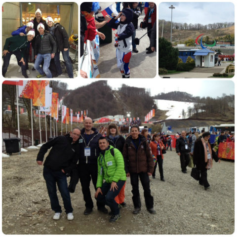 Photo des supporters des Jeux Paralympiques à Sochi