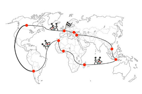 Handirection du Monde, départ pour le tour du globe