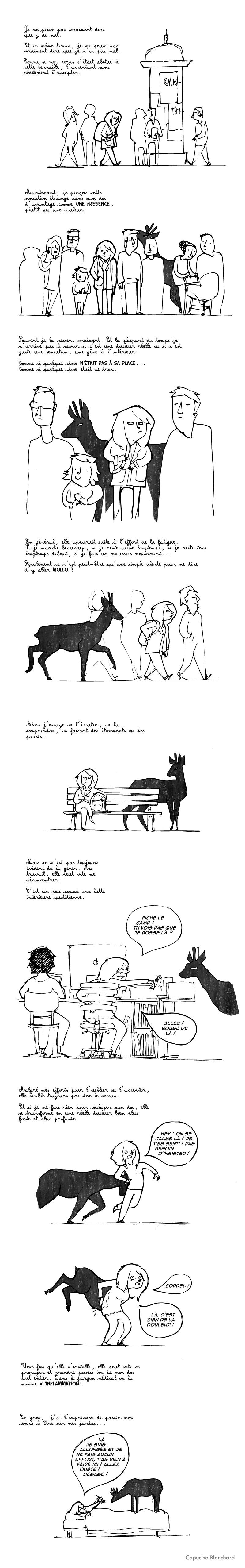 """BD et handicap : """"Une présence : entre gêne et douleur"""" par Capucine Blanchard"""