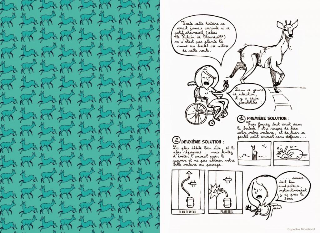 """BD et Handicap: """"Une histoire de chevreuil"""" par Capucine Blanchard"""