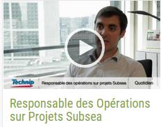 Responsable des Opérations sur Projets Subsea