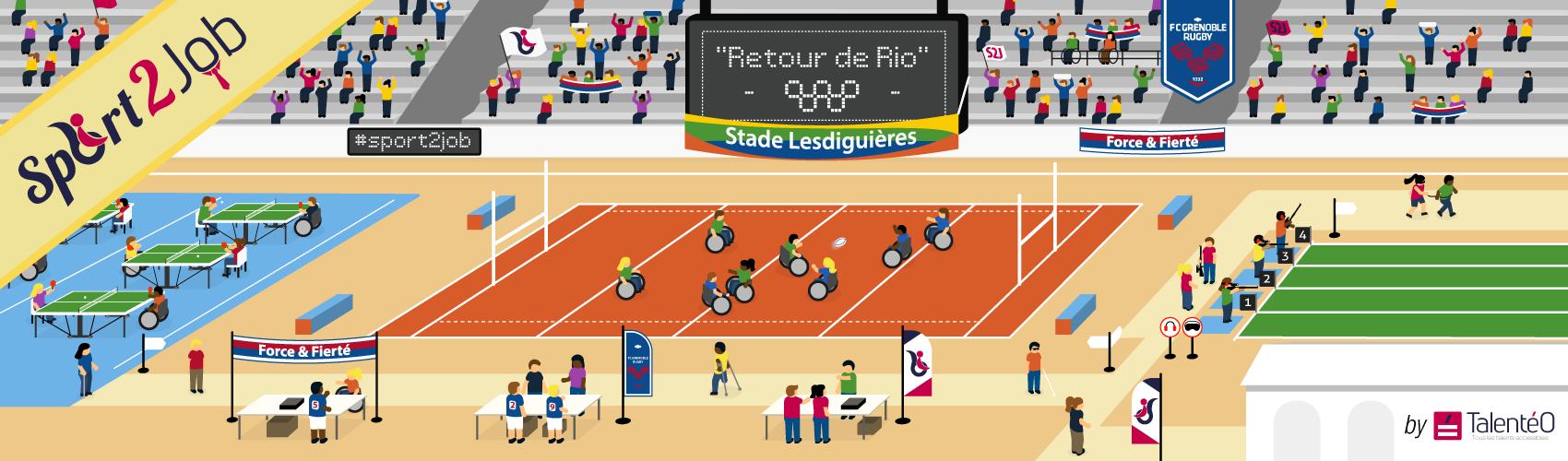 Sport2Job: Un tournoi multisport pour le retour de Rio!
