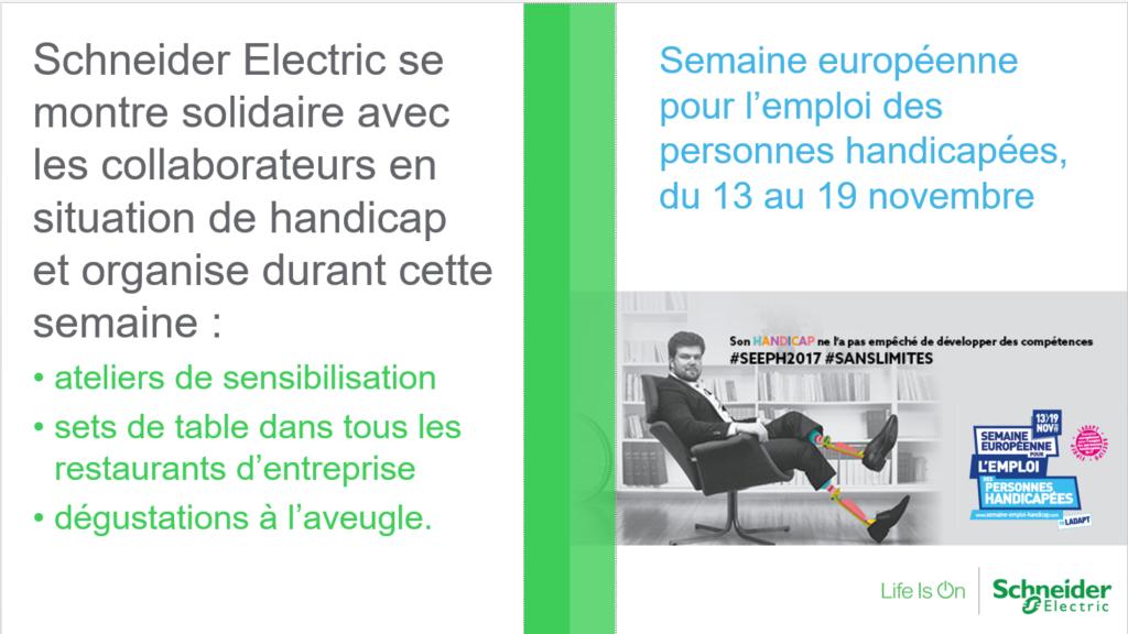 SEEPH 2017: Schneider Electric innove pour sensibiliser au handicap!