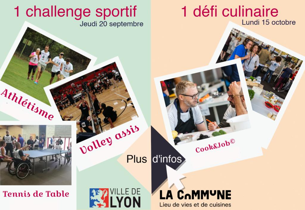 1 challenge sportif Jeudi 20 septembre 1 défi culinaire Lundi 15 octobre