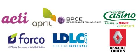 Acti, April, BPCE-IT, Groupe Casino, Forco, LDLC et Renault Trucks