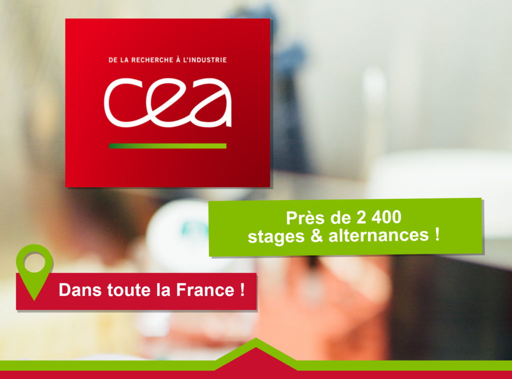 CEA: Près de 2 400 stages & alternances dans toute la France!!