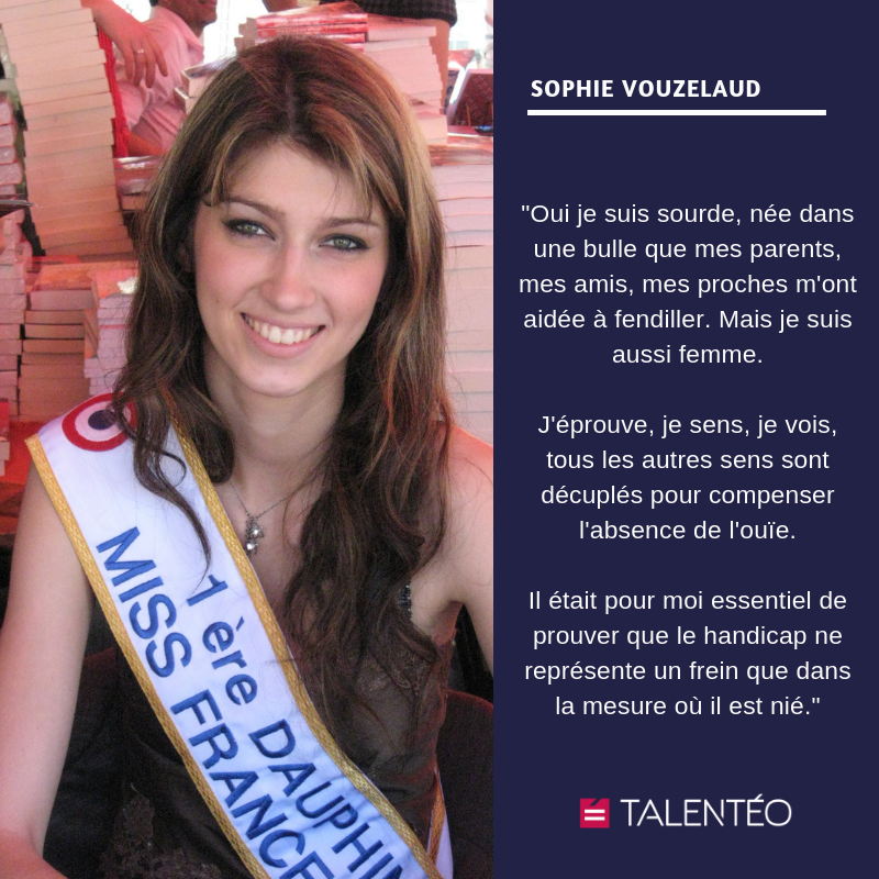 Sophie Vouzelaud: Miss malgré le handicap