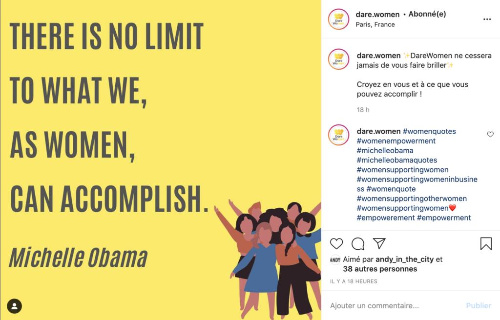 Instagram : Dare Women